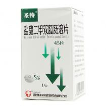 圣特盐酸二甲双胍肠溶片45片