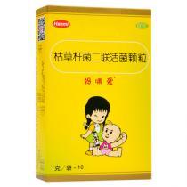 媽咪愛 枯草桿菌二聯活菌顆粒 10袋兒童益生菌腹瀉便秘消化不良