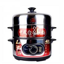 美的(Midea) 多用途锅SYH28-21多功能三层电蒸锅不锈钢大容量家用