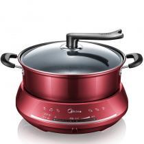 美的(Midea) 電火鍋DHY28大容量 分體式家用多功能電熱鍋(湯勺+漏勺+筷子)